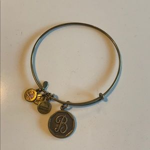 "Alex and Ani ""B"" Initial Bangle in Gold"